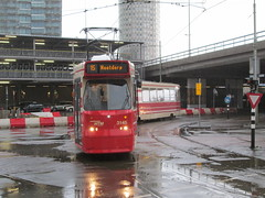 HTM GTL8 tram no. 3145, near Den Haag CS