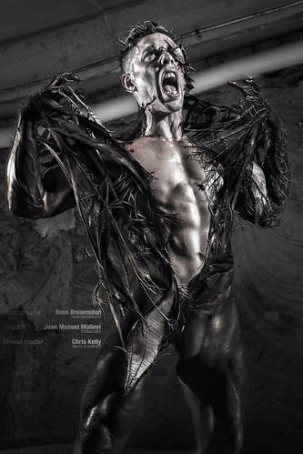 Venom SuperHero Fitness Model