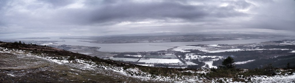 Cromary Firth from the Fyrish monument