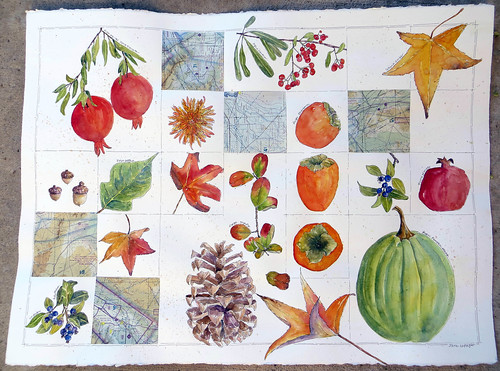 I love Autumn ~ the finished painting