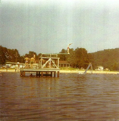 Simming area at Holliday Lake around 1970