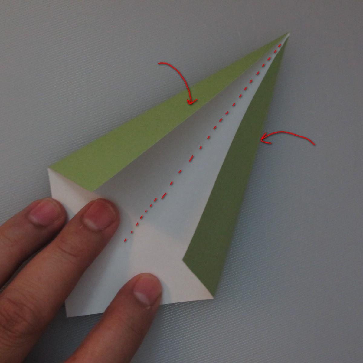 วิธีพับกระดาษเป็นดอกทิวลิป 021