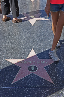 Groucho Marx's Star on Hollywood Blvd Hollywood California