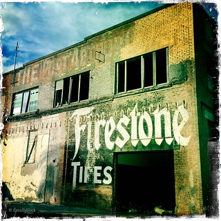 Firestone ghost sign & more on vacant building