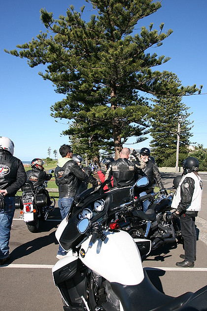 Harley Davidson riders from Just Cruisin Motorcycle Tours