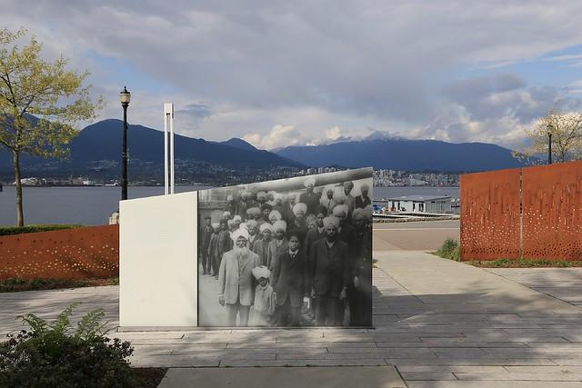 Komagata Maru memorial, Harbour Green Park, Coal Harbour, Vancouver, Canada