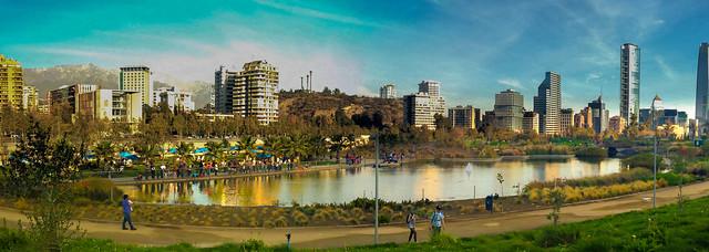 Laguna Parque Bicentenario Vitacura