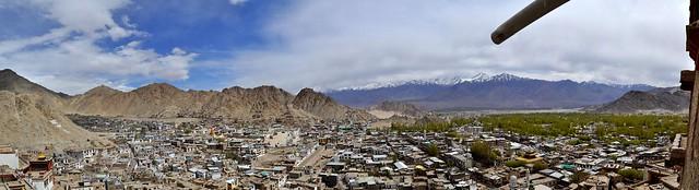 Bird's eye view of Leh