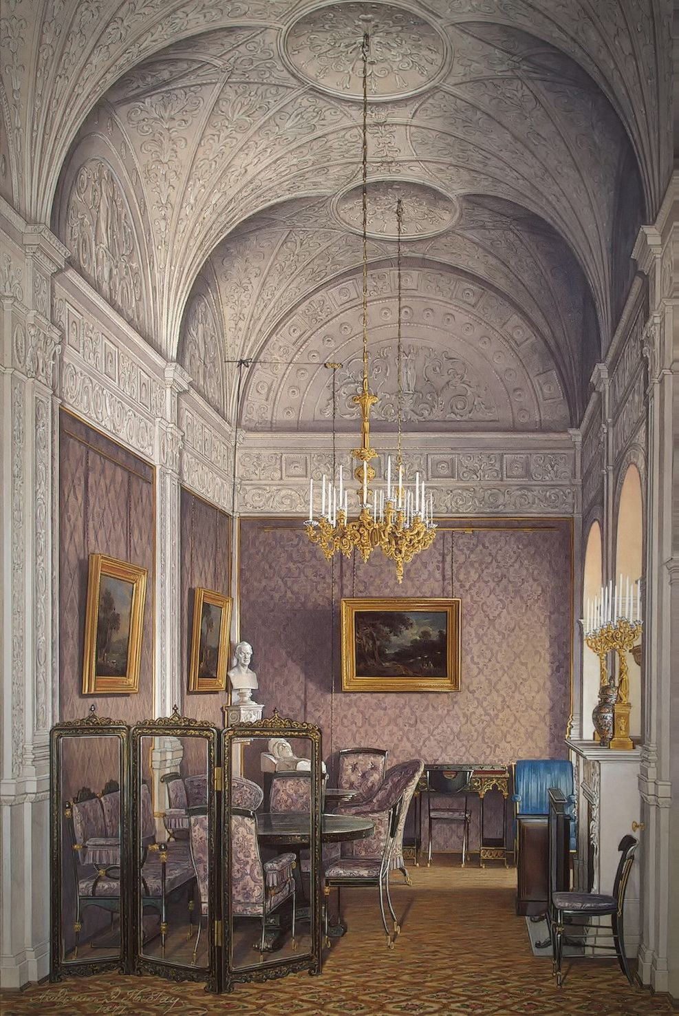 The Boudoir of Empress Alexandra Fyodorovna, 1870