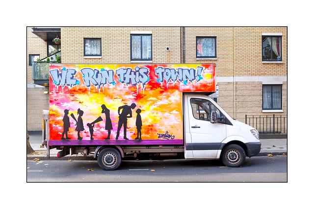 Van Art (Zandism), North London, England.