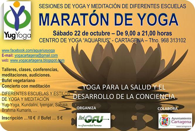 Maratón de Yoga y Meditación en Cartagena