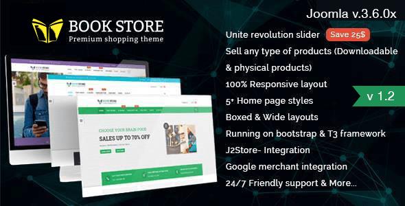 Bookstore v1.3 - Responsive Joomla Ecommerce Template