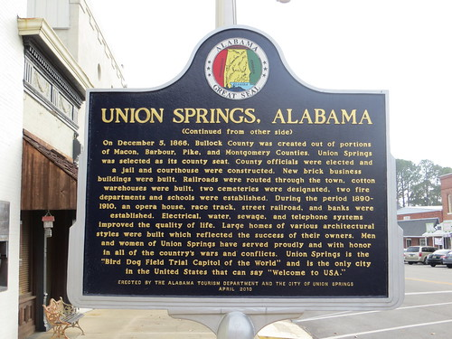 Union Springs Alabama Marker (Reverse) Union  Springs AL