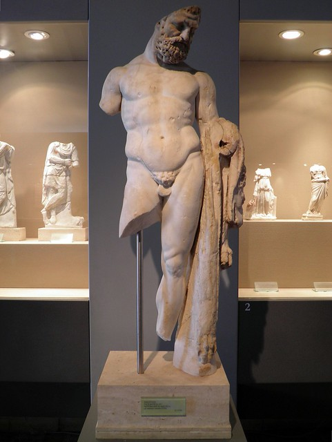 Statue of Hercules, end of 2nd century - beginning of 3rd century AD, Villa of the Quintili, Via Appia, Rome