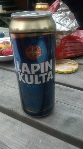 Una cerveza Lapin Kulta