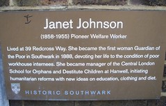 Photo of Janet Johnson brown plaque