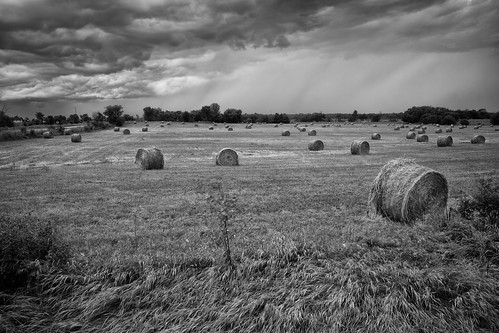 storm field clouds rural dark farm ottawa stormy hay bales humid day200 unstableweather day200365 3652013 365the2013edition 19jul13 skiesopenedup