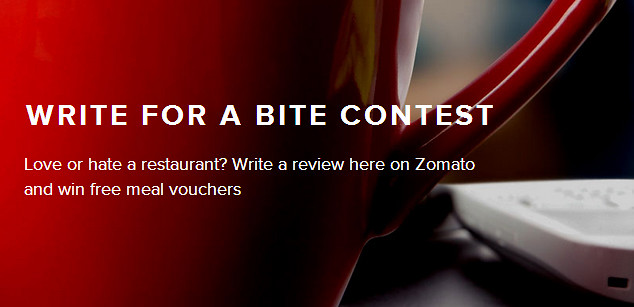 Write For A Bite Contest Zomato