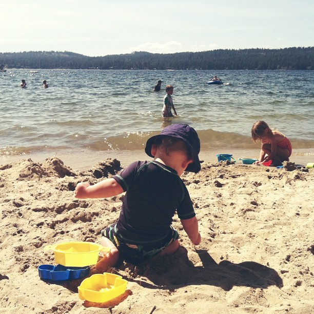 Where we'll be for the next week. Building sandcastles and playing with cousins. #dailyjohn