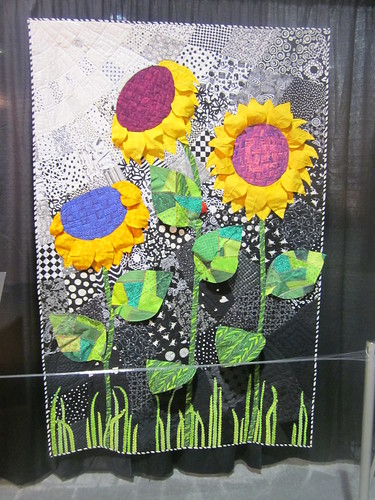 """3-D Sunflowers"" by Martha DeLeonardis of Katy, TX"