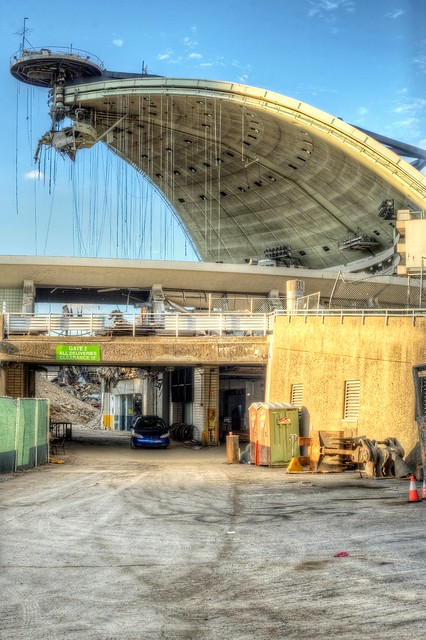Gate 2 and the open Civic Arena during its deconstruction HDR