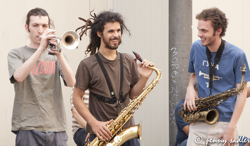 Street musicians, Italy
