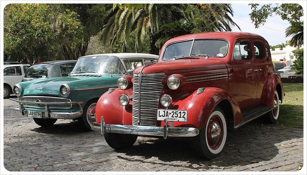uruguay classic cars in colonia del sacramento