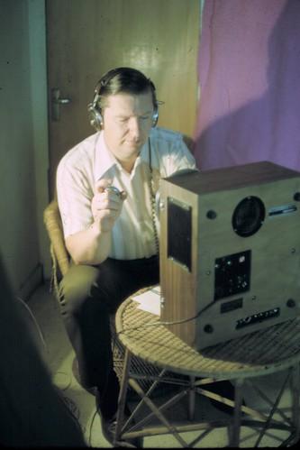 J.C. Choate recording a sermon