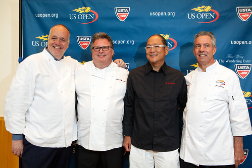 Chefs Tony Mantuano, David Burke, Masaharu Morimoto, and Jim Abbey
