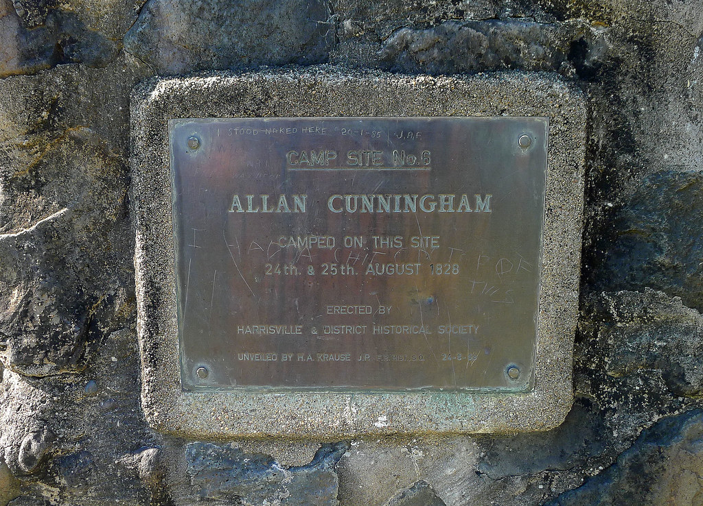 Allan Cunninghams Historical Campsite Marker on Campsite Road