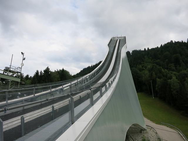 Olympic ski jump from the bottom