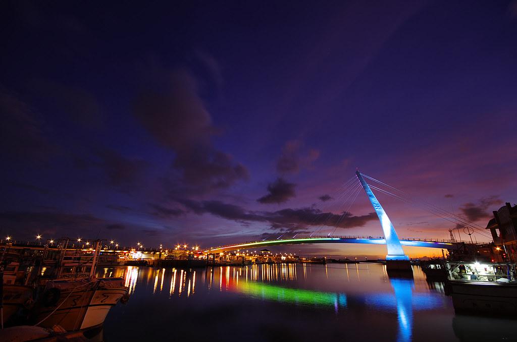颱風前的淡水漁人碼頭, 我看過最美的夕陽之一.