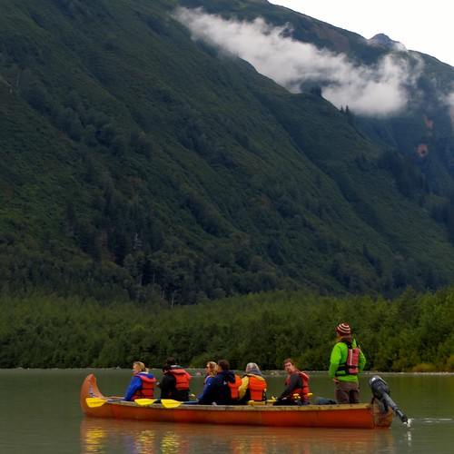 In Skagway, we took a canoe trip to see Davidson Glacier.