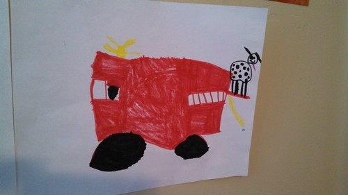 Lily drew this fire truck