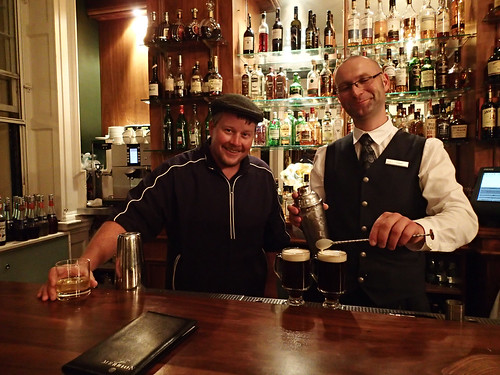 Matt with our bartender Lukasz.