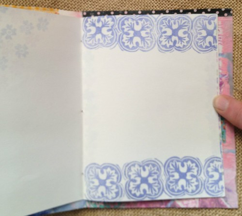 Small Art Journal Series Inside pages stamped