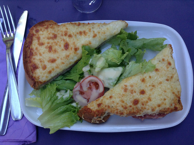 Croque Monsieur at Cafe Diane