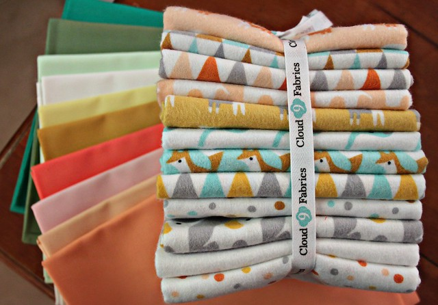 Mmmm... I love these together! An AGF Pure Element bundle from Stash Fabrics and Made By Rae's new Fanfare collection for Cloud9 Fabrics!