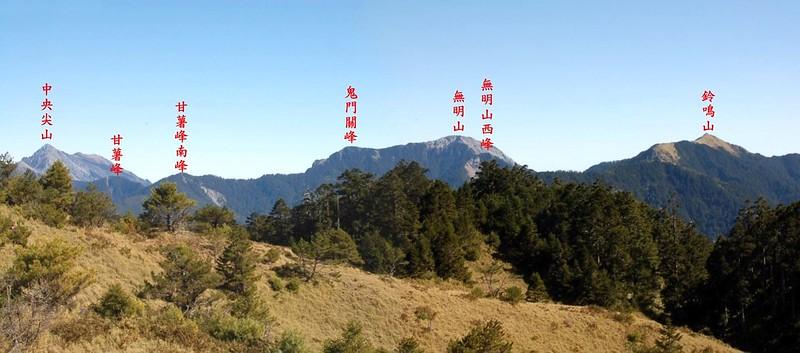 中央山脈北一段(From閂山) 1