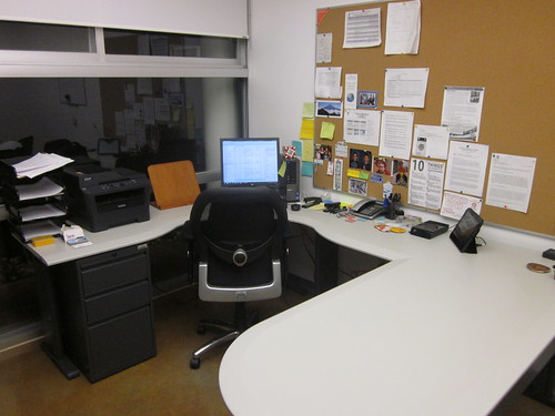 My office at CIDE Region Centro during and after writing a paper