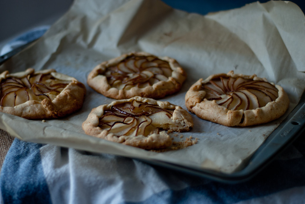 Brandied Pear Galettes with Almond Cream Filling