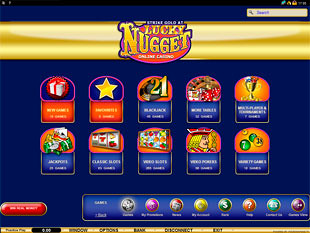 Lucky Nugget Casino Lobby