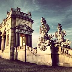 #austria #architecture #gloriette #statues #drama #vienna #schloss #schonbrunn #austria