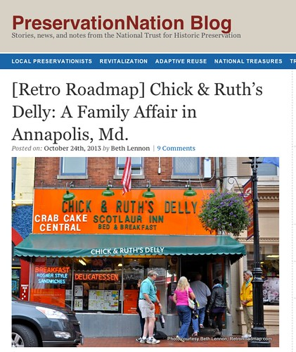Retro Roadmap  Chick   Ruth s Delly  A Family Affair in Annapolis  Md.     PreservationNation Blog