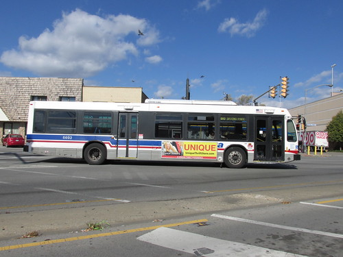 Eastbound Chicago Transit Authority Rt # 80 /  Irving Park Road bus. Norridge Illinois.  Late October 2013. by Eddie from Chicago