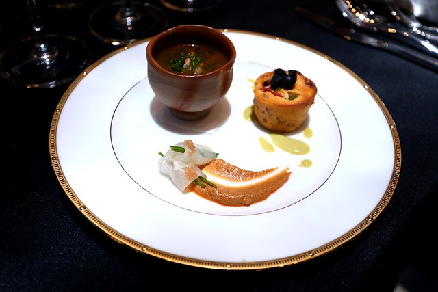 Halibut Marinated in Konbu with Angler Liver, Chawanmushi with Lobster Fragrance and Aonori