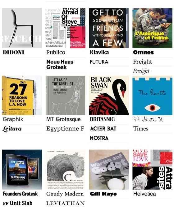 tipografías utilizadas en revistas
