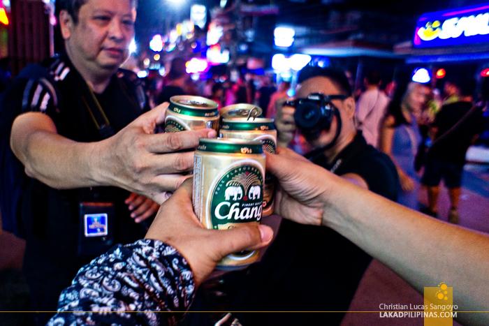 Cheers at Patong Beach's Bangla Road