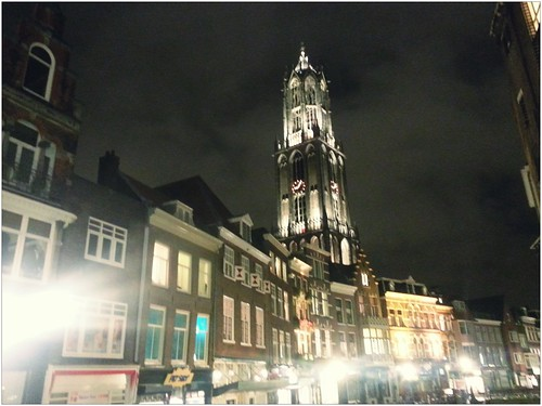Domtoren en Vismarkt -by night by Bontrop
