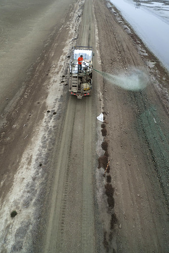 Hydroseeding the E14 levee